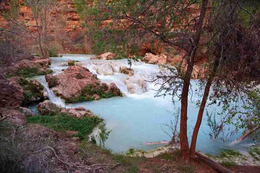 The gorgeous blue-green falls at Havasupai.