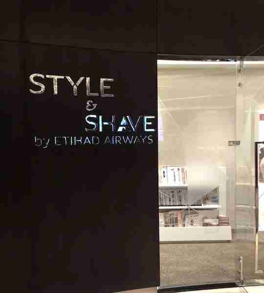 I received a shave and haircut in the lounge while waiting for my return flight.