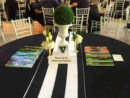 Reserved table for American Express in the VIP section of Taste of the Derby.