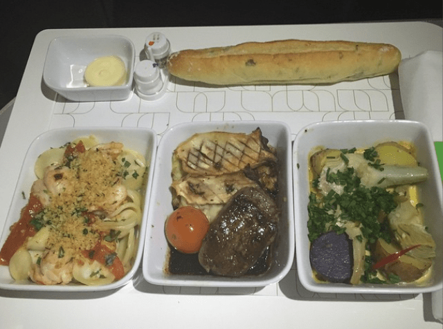 NOURISHMINT on JetBlue Mint  allows you to customize your main meal by choosing three items from a list of five tapas-style dishes curated by New York City's Sexon + Parole restaurant