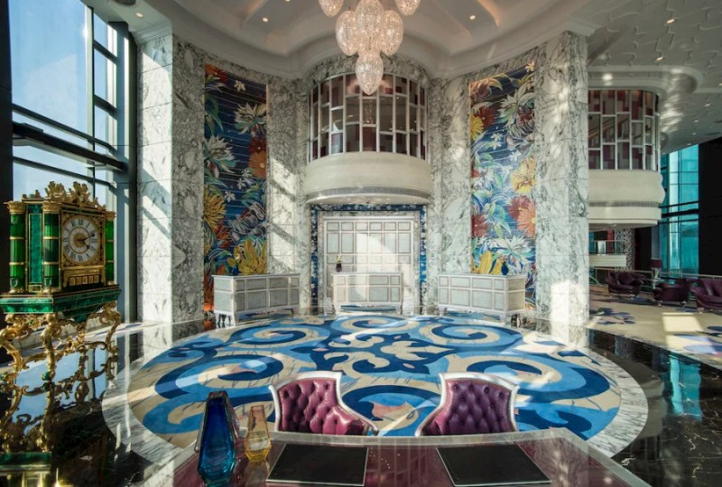 Like the rest of the hotel, the Reverie Saigon's lobby is over-the-top opulence.