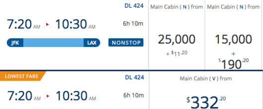 If using Miles + Cash here, you would pay more per mile than the redemption value.