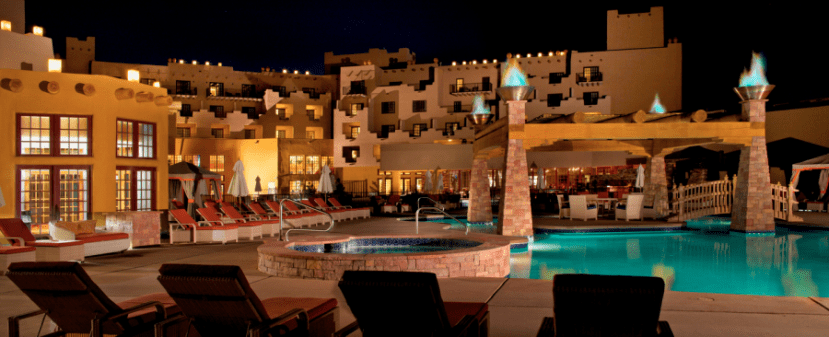 The Hilton Santa Fe Buffalo Thunder Resort only requires 20,000 points per night from November through April.