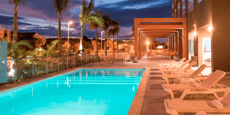 Enjoy an evening swim at the Four Points Puntacana Village
