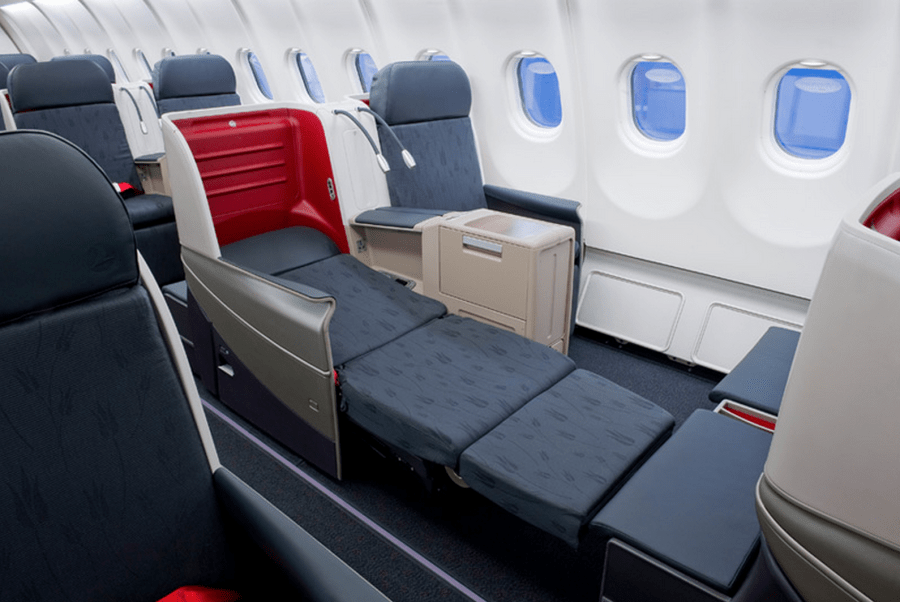 Turkish Airlines business class seats are plentiful and fully lie-flat.