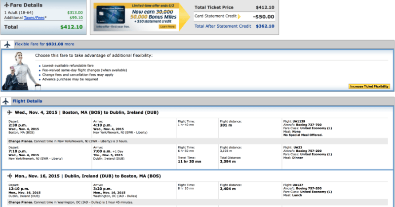 Head from Boston-Dublin for $413 on United Airlines.