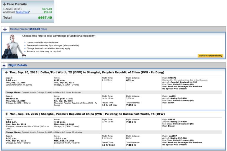 Dallas (DFW)-Shanghai (PVG) for $667 on United.