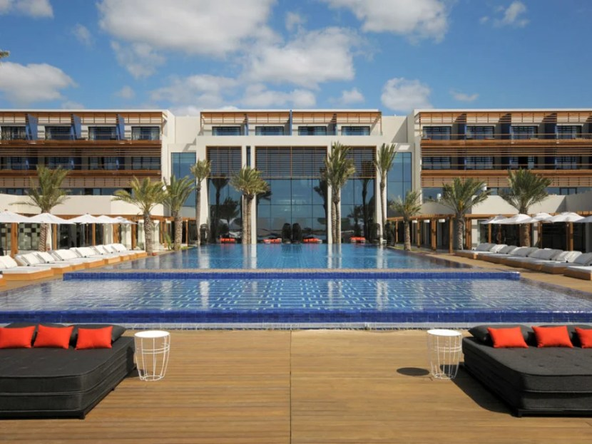 The pool at the modern Sofitel Mogador