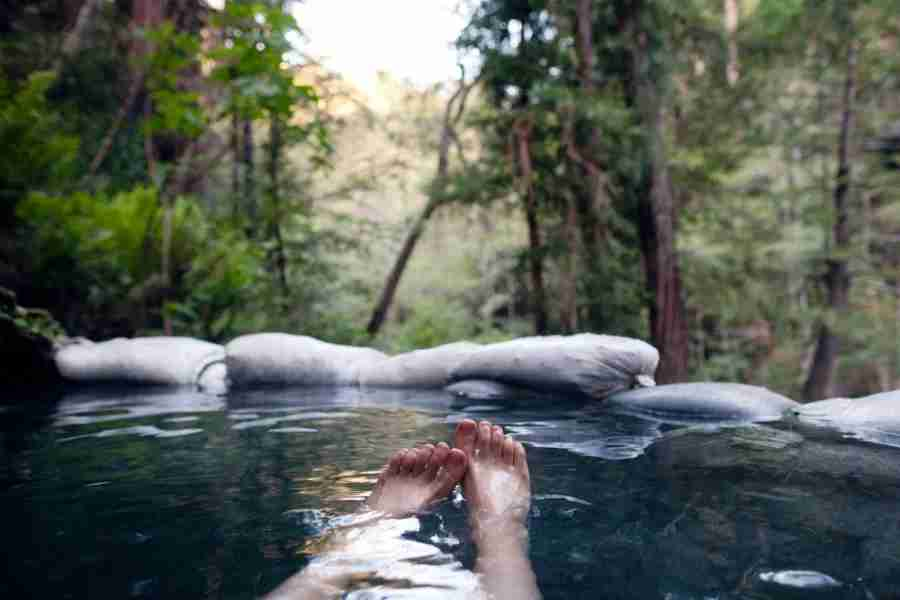 Be sure to stop for a soak in Sykes Hot Springs.