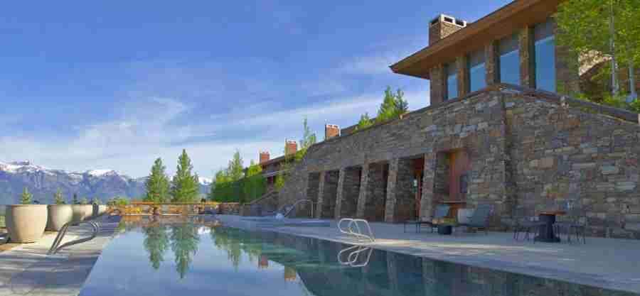 The Amangani pool is a great spot to enjoy the sun setting over the mountains.