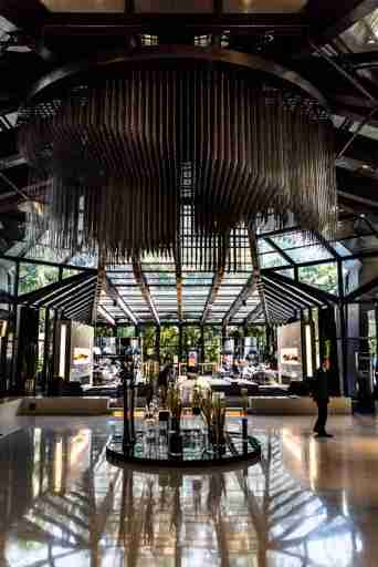 The gorgeous lobby of the Tivoli.