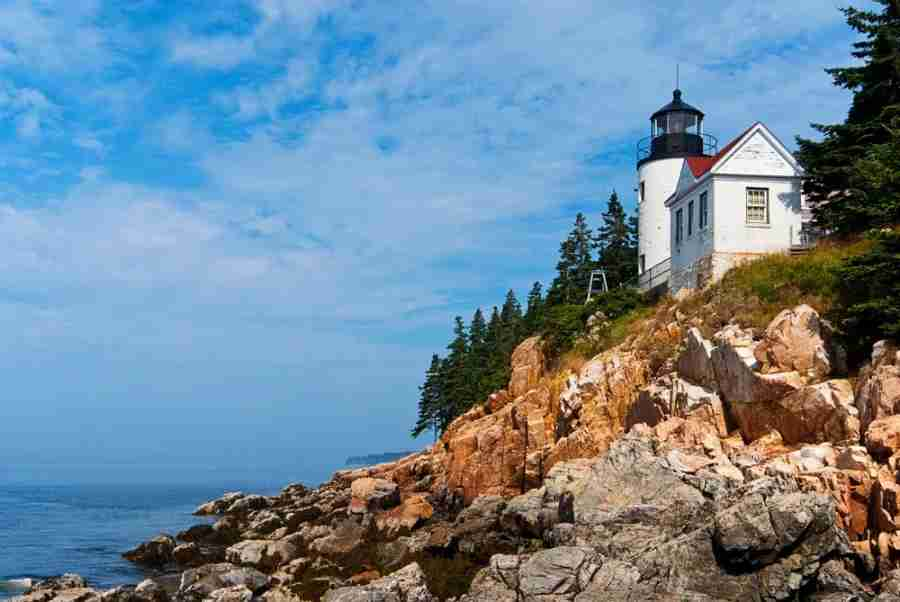 Bass Harbor Head lighthouse in northern Maine