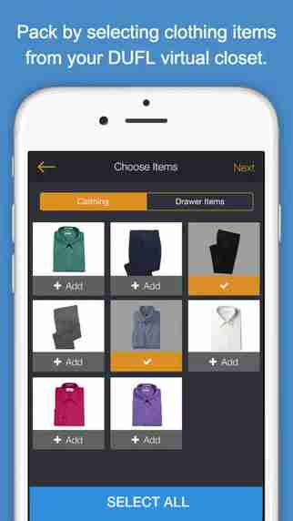"""DUFL scans your items into a """"virtual closet."""""""