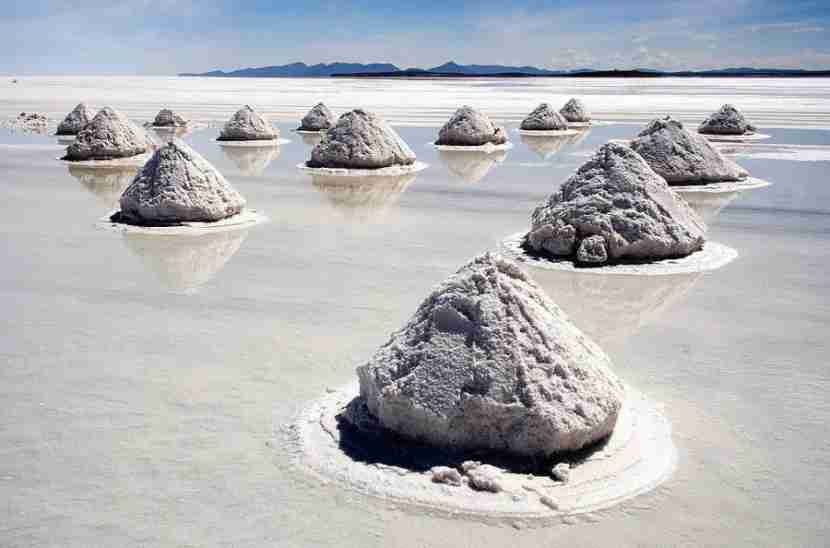 Piles of salt can be found throughout Bolivia