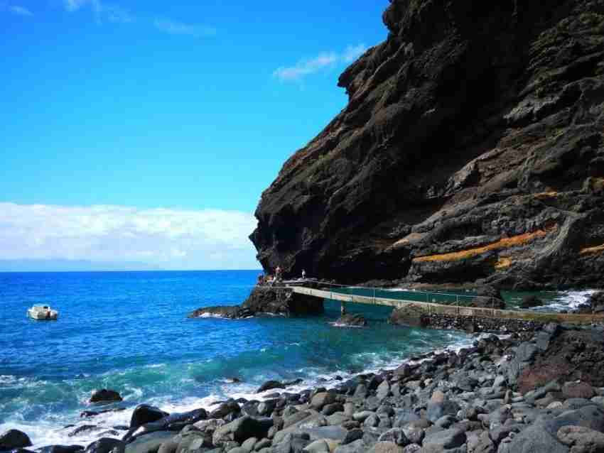 The black sand and rock beaches of Masca are the grand finale of this three-hour hike. Photo courtesy of Xplore Tenerife.