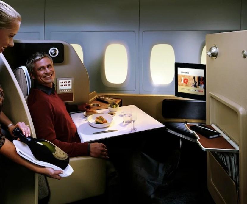 Qantas's menus come courtesy of Aussie celebrity chef Neil Perry.