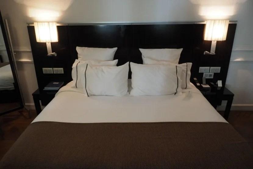 A clean, crisp, comfortable bed.