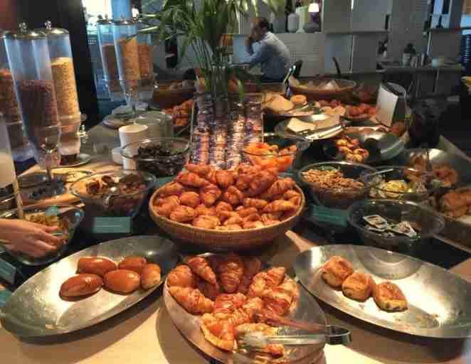 The breakfast spread was massive!