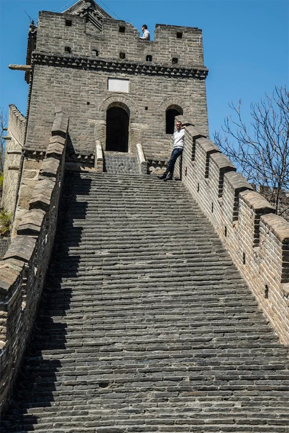 Steps up to the Great Wall of China are too big for my size 14's.