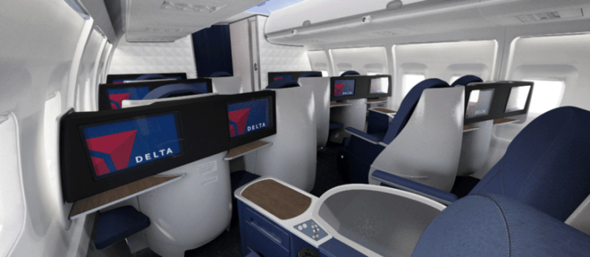 Delta One on a transcontinental 757.