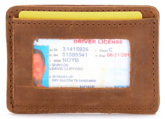 Saddleback Pocket ID Wallet