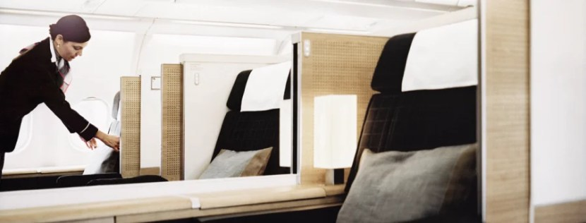 SWISS's first-class cabin has won rave reviews since first debuting in 2009.