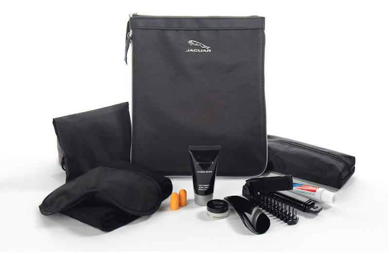 The airline will soon offer new Jaguar amenity kits on flights out of Istanbul.