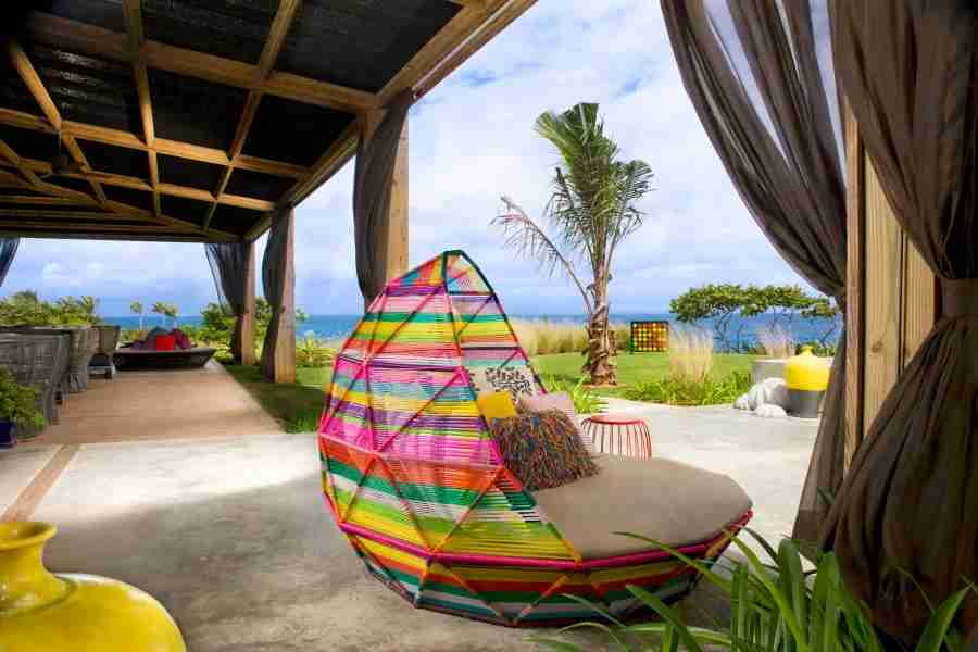 W Retreat and Spa, Vieques Island - Activities and Grounds - Living Room Deck - Day
