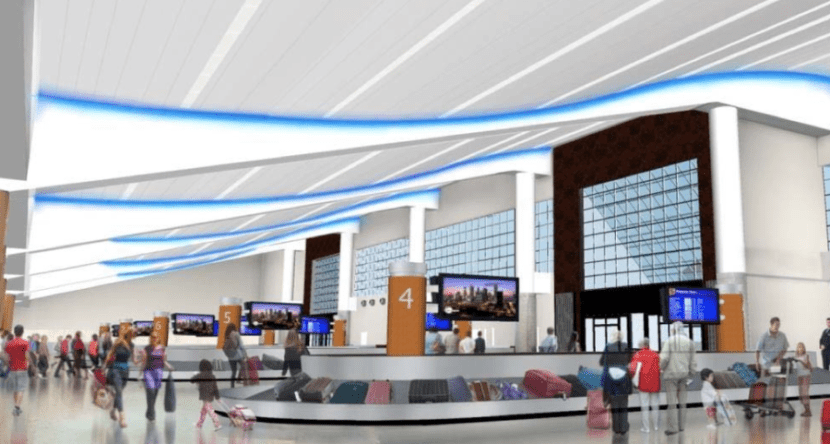 This new baggage claim seems awfully inspired by Delta.