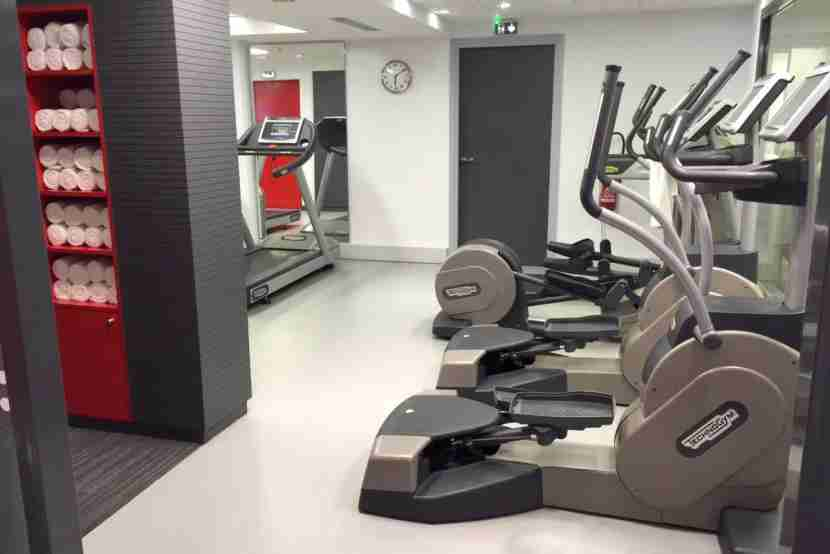 The gym was sterile but well-equipped.