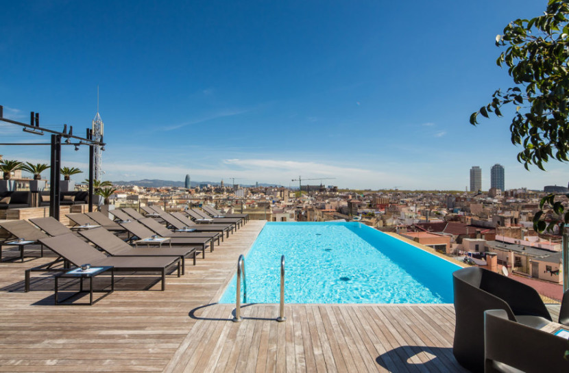 If you like rooftop pools with a city view, you're bound to love Barcelona's Grand Hotel Central. Photo courtesy of the hotel.