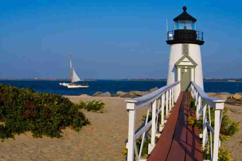 Visiting Brant Point Lighthouse and going for a sail are two lovely ways to enjoy Nantucket.