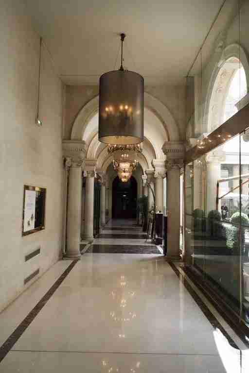 I loved strolling through the marble-paved lobby of the Westin Paris - Vendôme.