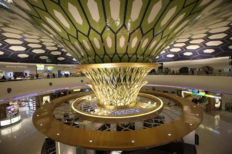 The inside of Terminal 1 feels like a circular spaceship.  Courtesy ADAC