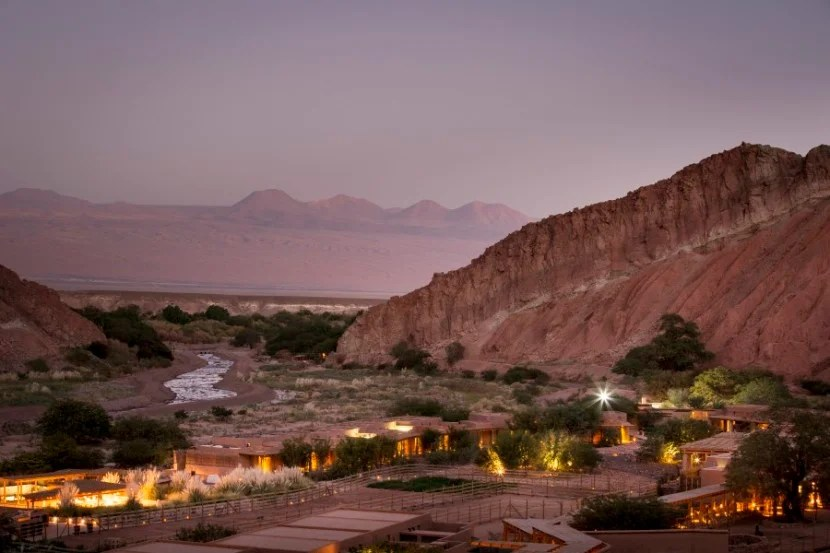 The Alto Atacama Desert Lodge and Spa, surrounded by the Andes. Photo courtesy of the hotel.