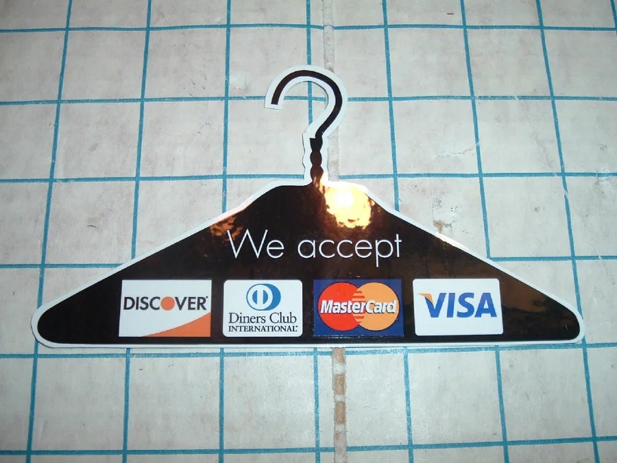 Dry Cleaning? Pay by credit card! (Photo courtesy ebay.)