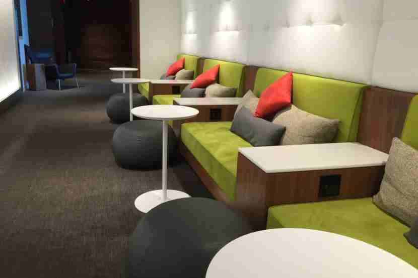 Unlike most Admirals Clubs, there was plenty of comfortable seating here at the Centurion Lounge.