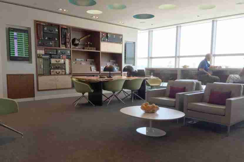 The Centurion Lounge has much more charm and character than any of the Admirals Clubs I