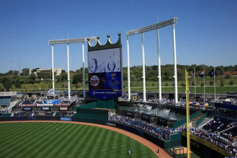 Kauffman Stadium in Kansas City, Missouri. Photo courtesy of the stadium.