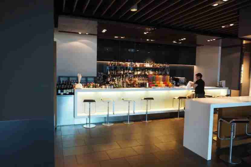 The First Class Terminal bar is exceptional well-stocked.