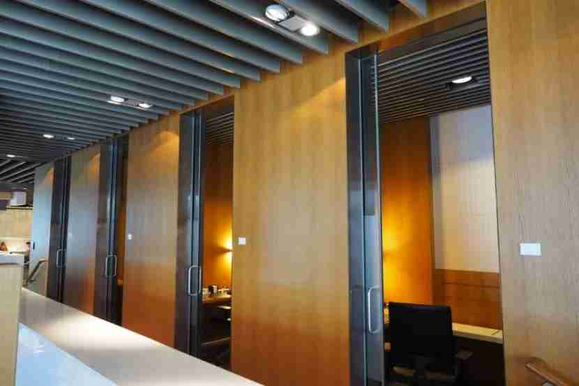 If you need to get some work done, the terminal features private working rooms.