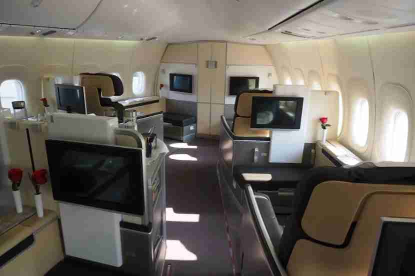 Book Lufthansa first class with Aeroplan miles.