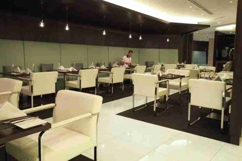The dining room at Etihad