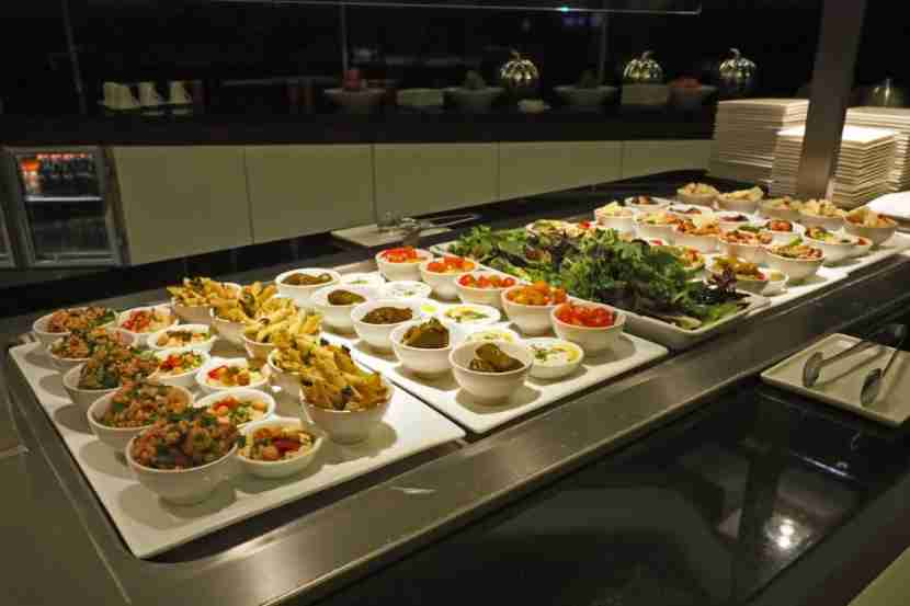 The salad bar at Etihad