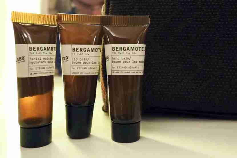 With small Bergamote 22 toiletries, the provided amenities are nice, but not over the top.