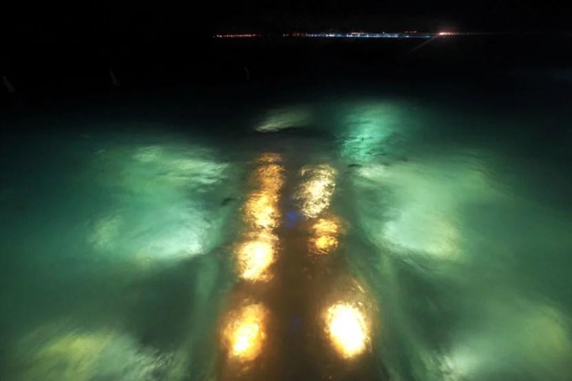 Ithaa Underwater Restaurant - Night Above