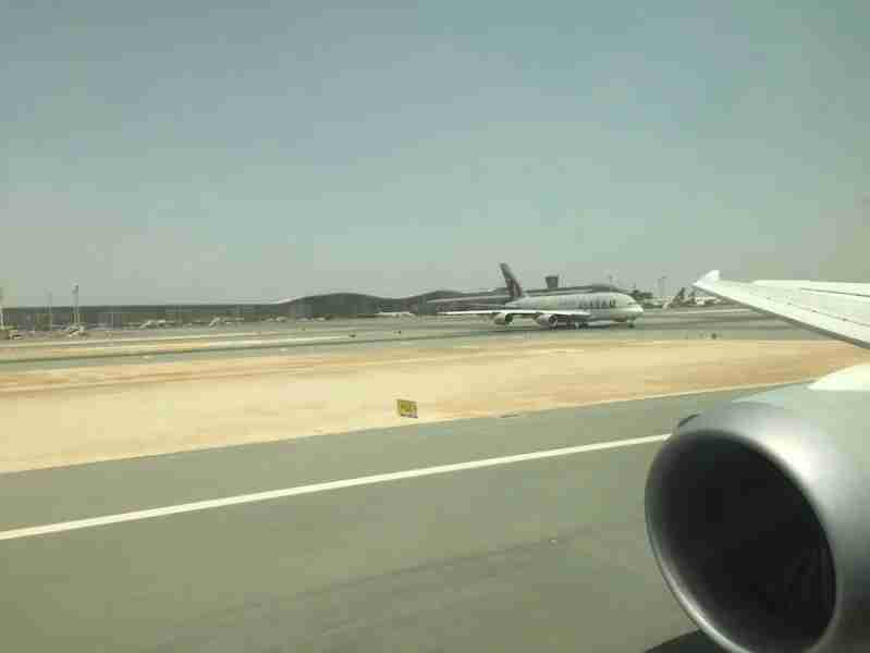 Rolling into the Doha airport, we passed one of the airline