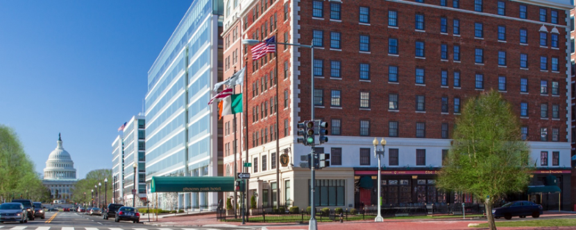The Phoenix Park Hotel in Washington, D.C. is the one non-affiliated property on the list