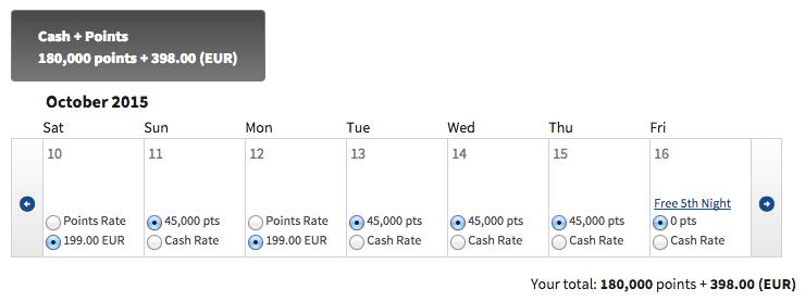 Marriott cash + points 4