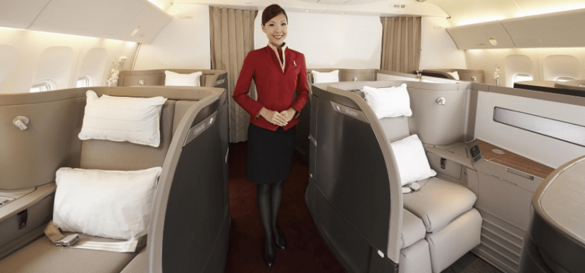 Cathay Pacific's refreshed first class cabin
